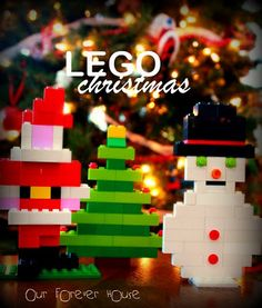 Lego Christmas patterns - May have to build these with the kids for their Memory Tree!