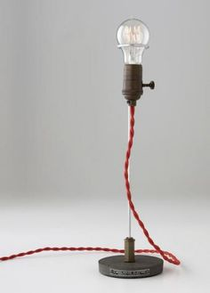 great industrial light with red cord. simple design. i like simple.