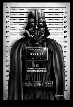 Darth Vader – from 'Star Wars' mugshot by Marcus Jones