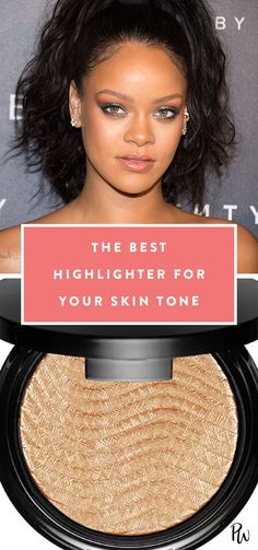 How to Find the Best Highlighter for Your Skin Tone. Get all the makeup tips here. #beauty #beautytips #highlighter #makeup #makeuptips