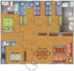 Casa de 4 dormitorios 88m2 DISEÑO PLAN vivienda GRATIS