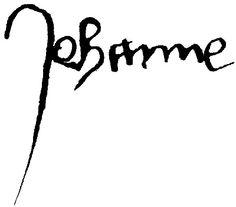 Joan of Arc signature by Saint Joan of Arc Superstar, via Flickr