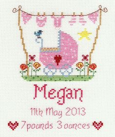 New Baby Girl Cross Stitch Kit More