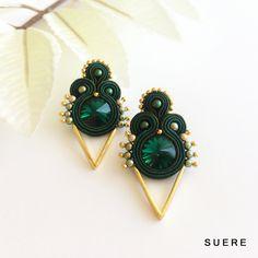 sutazo auskarai / soutache earrings