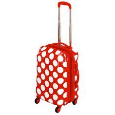 Rot mit weißen Punkten - so macht Reisen Spaß! Kleiner #Koffer mit vier Rollen von Spiegelburg Garden.