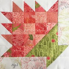 Category: Blushing Peonies Fabric Moda Blockheads 2 with Robin Pickens fabrics Colchas Quilting, Scrappy Quilts, Mini Quilts, Quilting Projects, Quilting Designs, Scrap Quilt Patterns, Pattern Blocks, Vintage Quilts Patterns, Quilt Blocks Easy