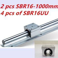 SBR16 1000mm linear guide set: SBR16 L1000mm(2pcs)+SBR16UU linear bearing block(4pcs)  cnc parts //Price: $96.17//     #Gadget