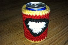 Free Crochet Pattern - Iron Man Drink Cozy
