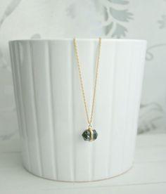 *black howlit* vergoldete Halskette  von Mint Design auf DaWanda.com