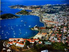 Charlotte Amalie St Thomas USVI I can't wait to see this view in a few months! Us Travel, Places To Travel, Places To See, Wonderful Places, Beautiful Places, St Thomas Usvi, Us Virgin Islands, Le Far West, Island Life