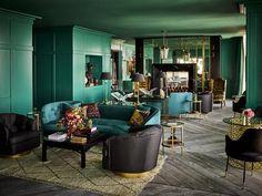 Ken Fulk-designed Uncle Harry's, the Harrison's private penthouse lounge, is downright spectacular