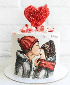 Providing cake making tools and supplies for extra special and beautiful cakes. Valentines Day Cakes, Valentine Desserts, Valentine Cookies, Cupcakes, Cupcake Cakes, Christmas Themed Cake, Cake For Husband, Cake Decorating With Fondant, Fantasy Cake