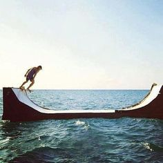 skate in water Skate Surf, Skate Ramp, Wild And Free, Go Outside, Looks Cool, Seaside, Life Is Good, Summertime, Images