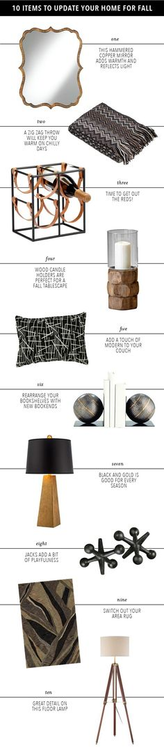 Home Decor Essentials for a Fall Update | Blogged by @Megan Maxwell Biram on #lampsplus #styleilluminated