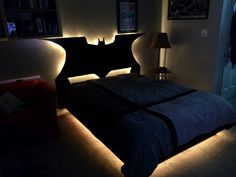 For the extreme Batman fans, behold the Batman bed and headboard! Too epic for ya? #geek