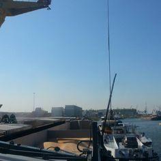 """#marcor #overslag #waalhaven #Rotterdam #mixen #mais #binnenvaart #theblueroad @nl_rtm"""