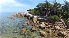 Koh Phangan's beaches - bird's eye - GoPro paramotor video