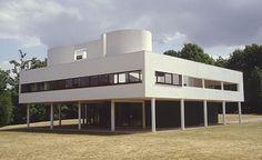 Le Corbusier Villa Savoye photo by Jeffery Howe, Poissy-sur-Seine, 1929-1930. LeCorbusier