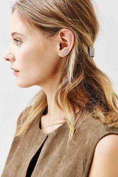 Tiny Triangle Ear Climber Earring