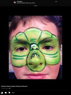Monster Face Paint Design