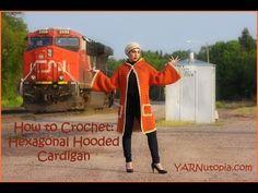 Crochet Tutorial: Hexagonal Granny Hooded Cardigan – YARNutopia by Nadia Fuad