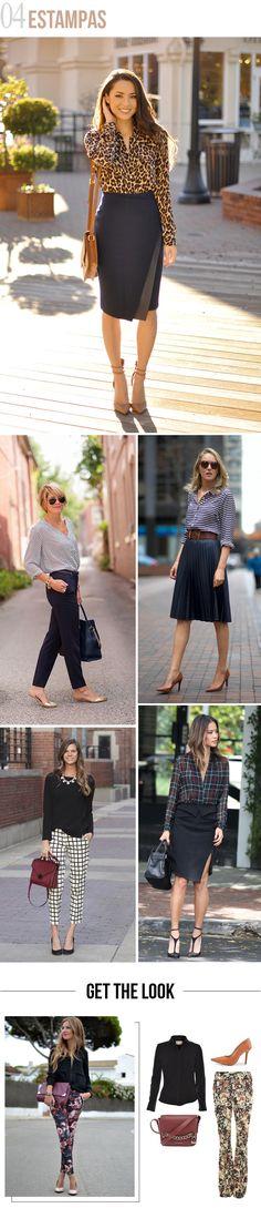 Look de trabalho: 4 jeitos de inovar! | Estampas. #moda #look #outfit #ootd #trabalho #office #work #escritório #dicas #estilo #styling #comousar #getthelook #blog #looknowlook
