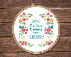 Modern floral quote art counted cross stitch pattern PDF | Etsy Cross Stitch Borders, Counted Cross Stitch Patterns, Floral Quotes, Halloween Cross Stitches, Needlepoint Patterns, Lettering, Pumpkin Decorating, Flower Patterns, Art Quotes