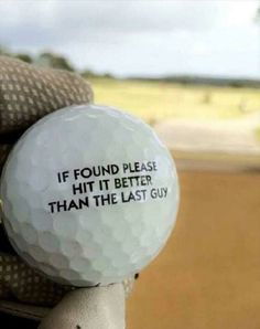 Prepare to be disappointed, golf ball. I Rock Bottom Golf #rockbottomgolf