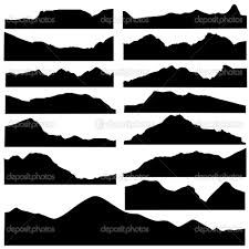 mountain silhouette - Google Search