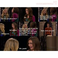 girl meets world riley and maya fanfic While having a simple day, riley and maya suddenly kiss one another the two immediately stop talking to each other afterwards as they are completely uncertain of what to do next however with time, the two begin to open up to the other and slowly begin discussing and considering what their future.