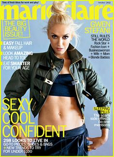 Gwen Stefani Covers 'Marie Claire' October 2012
