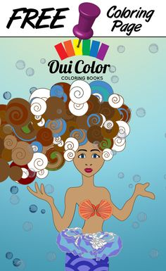 #Free #Regal #ColoringPage from Oui Color Coloring Books #Mermaid #Petunia #adultcoloring #adultcoloringpage #coloringbook #Oceans
