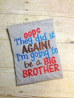 Oops! Going To Be Big Brother Shirt