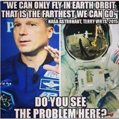 You do realize the moon is within Earth's orbit. It includes anything between us and the Sun. He's not saying we haven't gone to the moon or can't send people beyond Earth's orbit. He's saying we need the new heavy lift rockets under development to send people to Mars and beyond.