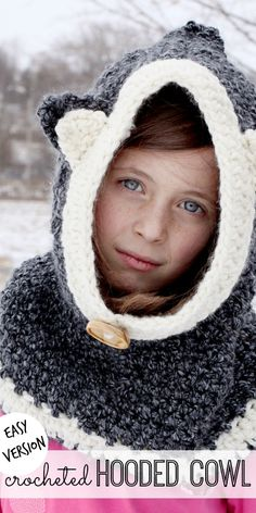 easy crocheted hooded cowl - Sugar Bee Crafts