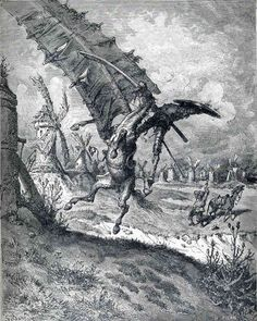 The Adventure with the Windmills (Don Quixote) — GustaveDore