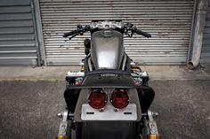 Road Bomber: a brutal custom Honda CBX1000 by Bad Seeds MC.