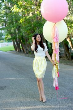 Balloon with tassels