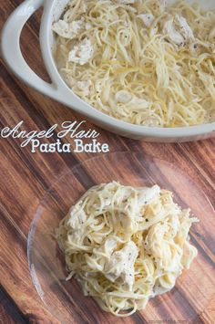 Weight Watchers Chicken Angel Hair Pasta Bake Recipe by #amomstake