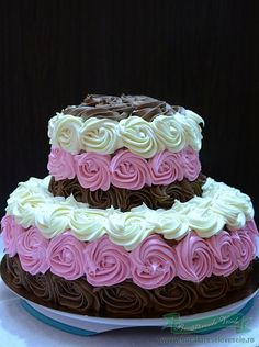 Trebuie sa va spun ca acest tort cu trandafiri din crema de ciocolata, l-am facut special pentru fiica mea Andreea care in 26 nov. a implinit 18 ani !! Decorul a fost alegerea ei si ma bucur mult ca am putut sa i-l fac asa cum si-a dorit!! La multi ani, draga mea !!