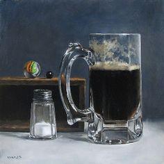 Michael Naples | OIL | Still Life With Dark Ale