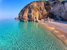 Stelari beach, Corfu island, Greece.