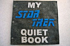 View all the pages here!!!! https://juliegillrie.wordpress.com/  11 page felt Star Trek inspired quiet book. Great for keeping toddlers and kids busy busy using our favorite characters ever! Each page is fun different, and interactive; teaching kids basic skills such as... ♥Practicing the Vulcan Salute ♥Un-zipping the turbo lift ♥Training with Warf ♥Snapping Geordis visor back on ♥Piloting the shuttle back ♥Destroying enemy probs ♥Velcro-ing clothes on Picard  **skill level: beginner…