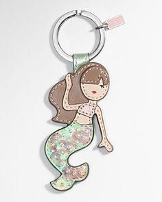 @Carrie Schwartz Mermaid Keychain; Coach