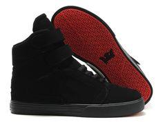 Supra bébé chaussures hautes en daim noir
