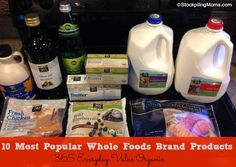 10 Most Popular Whole Foods Brand Products - Did you know about the affordable 365 Brand?