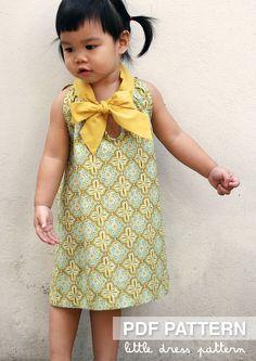 Sara Dress PDF Pattern Size 12 months to 8 by littledresspattern