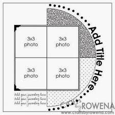"""Résultat de recherche d'images pour """"sketch scrapbooking 4 photos"""""""