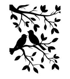 "Embossing Folder 4.25""X5.75""-Birds Branch"