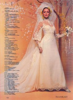 I love Eve of Milady gowns, this is from 1981 1980s Wedding Dress, Eve Of Milady Wedding Dresses, Wedding Dress Sleeves, Designer Wedding Dresses, Bridal Dresses, Wedding Gowns, Vintage Gowns, Vintage Bridal, Bridal Lace